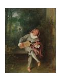 Mezzetin, c.1718-20 Giclée-tryk af Jean Antoine Watteau