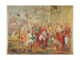 Jacopo Barbarigo Freeing Queen Margaret of Hungary from the Turks in 1426 Giclée-Druck von Antonio Vassilacchi