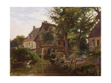 Cottages by a stream, c.1824 Giclee Print by Richard Parkes Bonington
