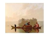 Fur Traders Descending the Missouri, 1845 Gicléedruk van George Caleb Bingham
