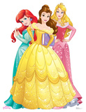 Princesses Group - Ariel, Belle, Aurora - Disney Princess Friendship Adventures Cardboard Cutouts