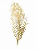 Gold Foil Feather II Pósters por  Vision Studio