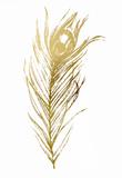 Gold Foil Feather I ポスター : ビジョン・スタジオ
