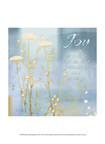 Blue Floral Inspiration VIII Poster di Evelia Designs