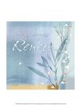 Blue Floral Inspiration VII Stampe di Evelia Designs