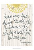 Sun Quote III Art by Grace Popp