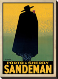 Porto and Sherry Sandeman Stretched Canvas Print by Georges Massiot