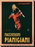 Maccheroni Pianigiani, 1922 Opspændt lærredstryk af Achille Luciano Mauzan