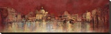 Venice At Night Stretched Canvas Print by  Kemp