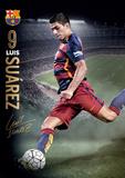 Barcelona Suarez Action 15/16 Poster
