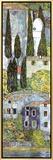 Chiesa a Cassone (detail) Framed Canvas Print by Gustav Klimt