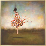 Boundlessness in Bloom Framed Canvas Print by Duy Huynh