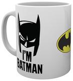 Batman Comic I'm Batman Cowl Mug Taza