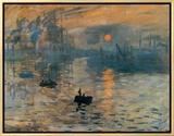Impression, Sunrise, c.1872 Framed Canvas Print by Claude Monet