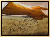 The Sower Framed Canvas Print by Garret Walker
