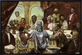 Last Supper Framed Canvas Print by Cornell Barnes