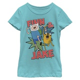 Young Girls: Adventure Time- Jake And Finn T-Shirt