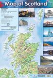 Map Of Scotland Prints