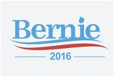 Bernie 2016 (Patriotic White) Print