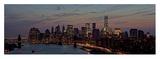 Lower Manhattan at dusk Posters av Richard Berenholtz
