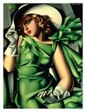 Jeune fille aux gants (detail) Poster von Tamara De Lempicka