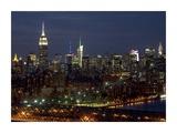 Midtown Manhattan at night Affischer av Richard Berenholtz