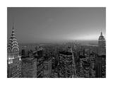 Midtown and Lower Manhattan at dusk Affischer av Richard Berenholtz