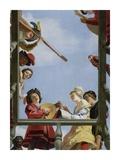 Musical Group on a Balcony Kunstdrucke von Gerrit Van Honthorst