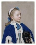 Portrait of Maria Frederike van Reede-Athlone at Seven Years of Age Plakat af Jean-Etienne Liotard