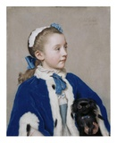 Portrait of Maria Frederike van Reede-Athlone at Seven Years of Age Plakater af Jean-Etienne Liotard