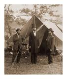 President Lincoln on the Battlefield of Antietam, Maryland, October 2, 1862 Plakat af Alexander Gardner