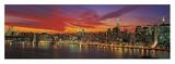Sunset over New York (detail) Affischer av Richard Berenholtz
