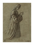Study of the Virgin (recto); Study of the Virgin and of Hands (verso) Kunst af Vittore Carpaccio
