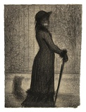Une elegante (Woman Strolling) Posters by Georges Seurat