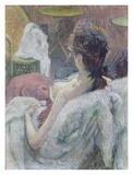 The Model Resting Póster por Henri de Toulouse-Lautrec