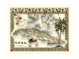Tropische Landkarte von Kuba Kunstdrucke von  Vision Studio