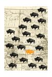 Where the Buffalo Roam Premium Giclee Print by  GI ArtLab