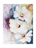 Blooms Aquas I Premium Giclee Print by Leticia Herrera