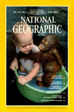 Cover of the June, 1980 National Geographic Magazine Reproduction photographique par Rodney Brindamour
