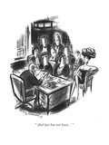 """ 'And last but not least...' "" - New Yorker Cartoon Reproduction giclée Premium par Jr., Whitney Darrow"