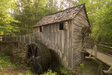 The John P. Cable Grist Mill on its Original Site, Cades Cove, Great Smoky Mountains National Park Stretched Canvas Print by Phil Schermeister