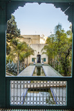 A Reflecting Pool in Le Jardin Des Biehn, a Riad or Small Hotel in the Medina of Fez Fotografisk tryk af Richard Nowitz