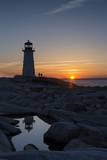Peggy's Point Lighthouse at Sunset Stampa fotografica di Robbie George