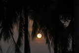 Moonrise in Luang Prabang, Laos Reproduction photographique par Ira Block