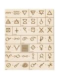 Alchemical symbols Giclée-vedos tekijänä  Science Source