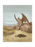 Satan Finding Serpent, by Dore Giclée-Druck von  Science Source