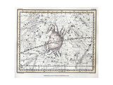 Cancer Constellation, Zodiac, 1822 Giclee Print by  Science Source