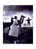 Fashion Model with Llamas, 1952 Photographic Print by  Science Source