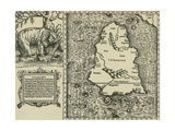Ptolemy's Map of Ceylon, 2nd Century Giclee Print by  Science Source