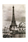 Eiffel Tower, Paris Expo, 1900 Photographic Print by  Science Source